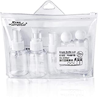 Adaskala Travel Bottles Empty Refillable Cosmetic Containers Toiletries Liquid Containers Leak Proof Portable Plastic Bott...