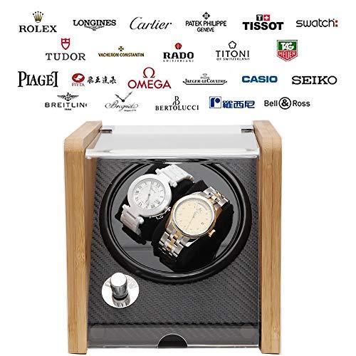 LNLN Uhr Aufbewahrungsbox Mute Anti-Magnetic Uhrenbeweger Box Uhrwerk Mechanische Uhr Automatische Drehscheibe Anti-Tisch-Stopp FüNf Modi Aufbewahrung Wartung Uhr,C