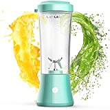 LaHuko Blender Portable Blender Personal Size Blender Juicer Cup for Juice Crushed-ice Smoothie Shake with Six Blades, 4000mAh USB Rechargeable, Blender for Outdoor Picnic Travel Gym
