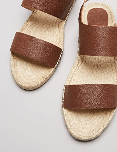 FIND Damen Sandalen mit Espadrilles-Sohle, Braun - 3