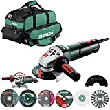 Metabo US3005 11 Amp 4.5 in. / 5 in. Corded Angle Grinder with Non-locking Paddle Switch System Kit