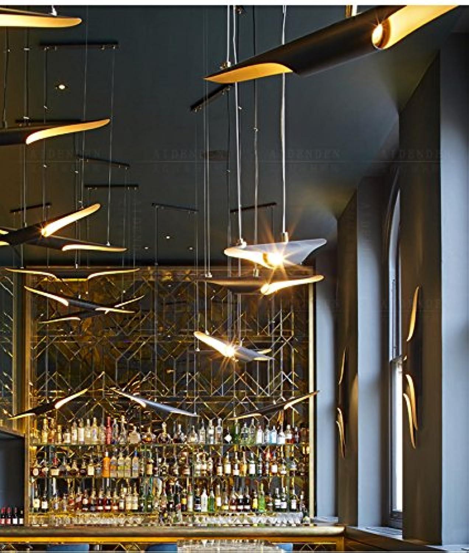 StiefelU LED Wandleuchte nach oben und unten Wandleuchten Coltranelight Restaurant Kronleuchter einzelne schwarze Bar Cafe profilierte mit Bambus, individuelle, Wandleuchte