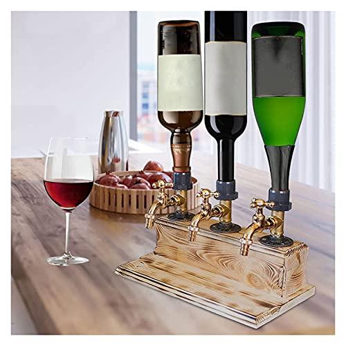 YZAIBB Dispensador de madera de whisky, licor de madera, para fiestas de alcohol, grifo de whisky, forma de grifo, licor del día del padre, alcohol, whisky de madera (color 3)