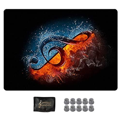 YUANZHOU Tapis Batterie Kit de Batterie pour Enfants Tapis Antidérapant Tapis Insonorisé pour Caisse Claire et Autre Instrument de Musique,120×80cm-A