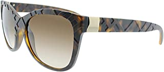 Burberry Women's 0BE4219 357813 56 Sunglasses, Matte Dark Havana/Browngradient