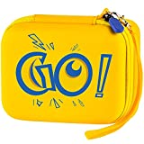 Carrying Card Holder Compatible with Pokemon Trading Card, Case Box Holds 410+ PM TCG Cards (Yellow)