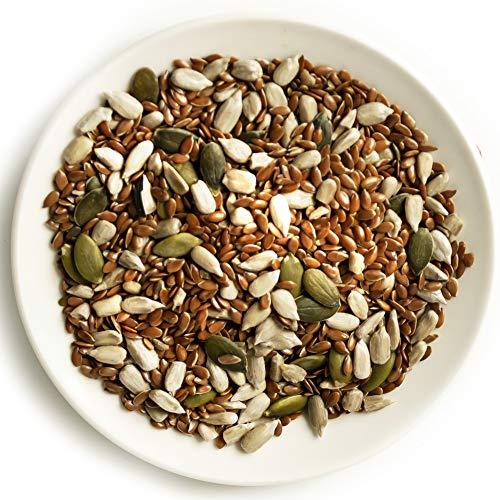 KERN FAMILIE Körnermischung 1kg, naturbelassener Kerne-Mix aus Sonnenblumen-Kernen, Kürbis-Kernen und Leinsamen, zum Brot-backen, für Muesli, Salat-Topping oder als gesunder Snack