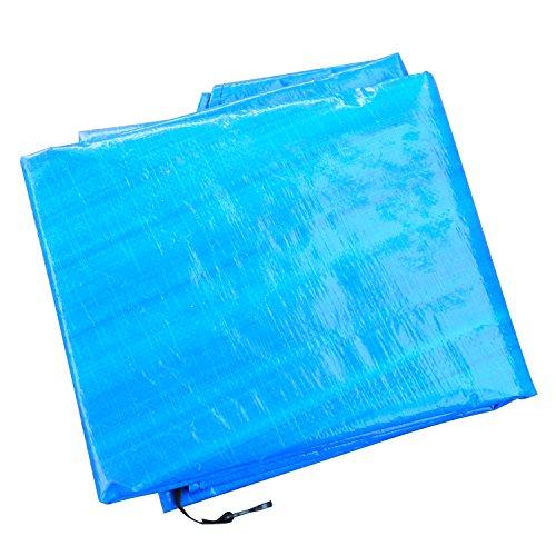 HOMCOM Funda Proteccion Impermeable para Cama Elastica Trampolines, diametro ø 244cm, Color Azul