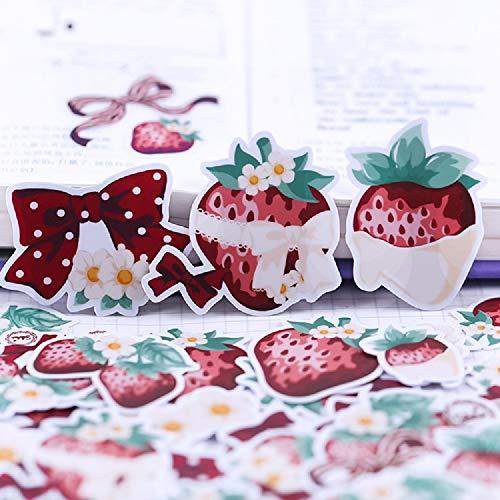 【いちごとチョコレート】シール ステッカー フレークシール 海外 (紙質・白色)
