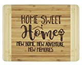 Housewarming Gifts,Engraved Cutting Board - New Home Owner Gifts ,For Sisters,Friends,Daughter,Son,Boss gift-Sweet Home, New Home.