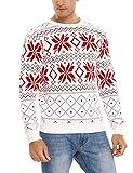 Aibrou Suéter de Navidad, Jersey de Navidad Hombre Punto Suéter Hombre Cuello Redondo Invierno Manga Larga Jersey Navideños Suéteres para Casual Cómodo