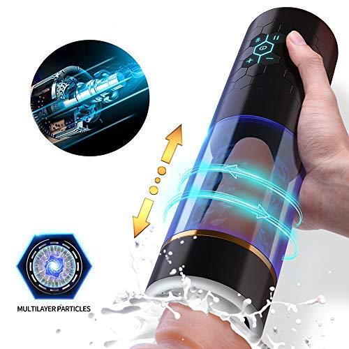 Māştừrbateừr masculin réaliste électrique automatique silicone imperméable masseur de...