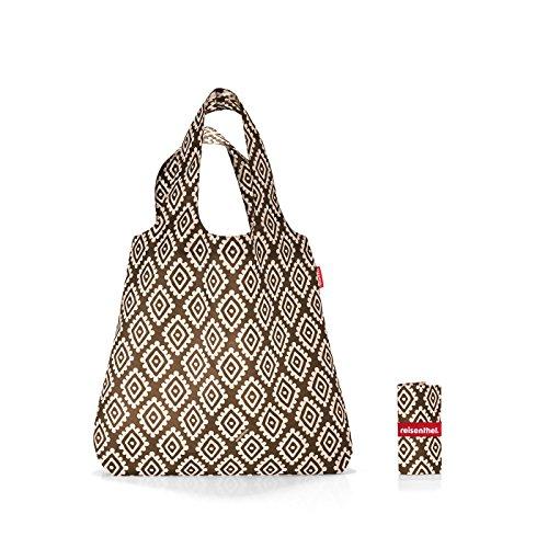 reisenthel mini maxi shopper Bolso bandolera, 60 cm, 15 liters, Marrón (Diamonds Mocha)