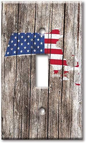 Light switch night light cover plateSingle Gang Toggle Switch/Wall Plate - Massachusetts Map