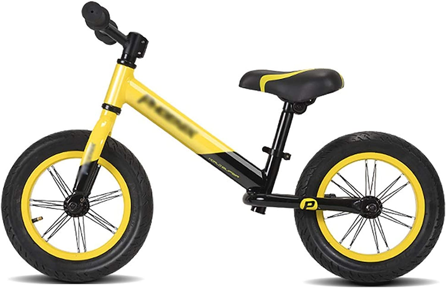 Balance Bikes for Boys Girls  2, 3, 4, 5, 6 Year Olds, Air Tires, Aluminum Alloy No Pedal Walking Bicycle (color   Yellow)