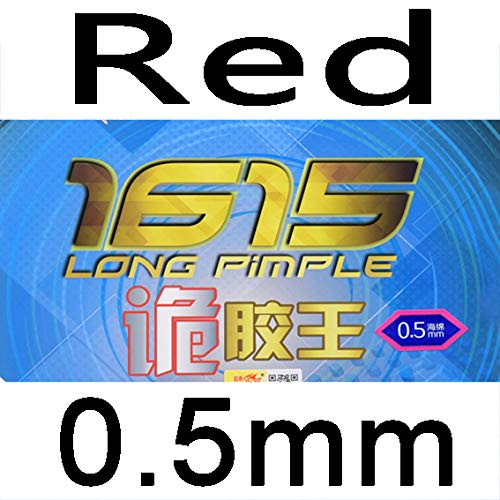 Great Deal! Double Fish Original 1615 Long Pimple Table Tennis Racket Rubber with Spong (red 0.5mm)