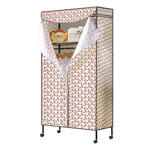 Jian E Garde-Robe en Tissu Garde-Robe en Tissu Simple Rangement Vêtements de Rangement Petit dortoir Unique / (Couleur : B)