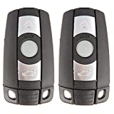 cciyu X 2 Flip Key Fob with Key Blade 3 buttons Replacement for 05 06 07 08 09 10 11 12 13 for B MW X5 X6 Z4 1 3 5 6 7 Series with FCC KR55WK49123