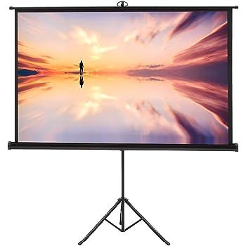 KPCB プロジェクタースクリーン 84インチ ホームシアターとオフィス用 一体型三脚スクリーン 4Kとハイビジョンに 対応する(16:9)