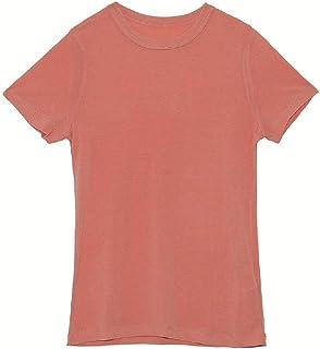 Andopa Womens Short Sleeves Basic Crewneck One Size Plain Tee Shirt