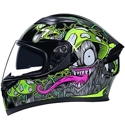 Casco De Motocicleta Homologado ECE Casco Moto Integral Casco De Scooter Con Doble Visera Solar Casco Para Moto Integral Para Mujer Y Hombre, Adulto Unisex Cascos De Ciclomotor G,XL