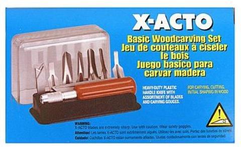 X-Acto Basic Woodcarving Set 1 pcs sku# 1841311MA