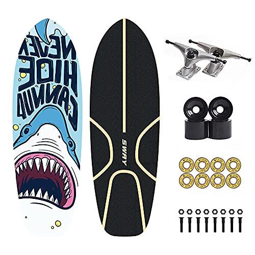 Skateboards CX4 Cruiser Surfskate carving para Principiantes Deck de longboard Completa 81.4 * 26 CM 7 Capas de Madera de Arce Monopatin con Rodamientos ABEC-11 78A PU de Ruedas para adolescentes