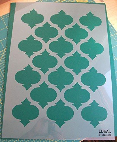 Schablone, marokkanisches Vierpass-Motiv, zur Dekoration, Wandgestaltung usw., plastik, M/A3/see image for info