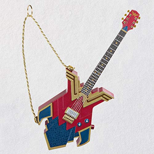 Hallmark Keepsake Christmas Ornament 2020, DC Comics Wonder Woman Rocks! Guitar, Musical