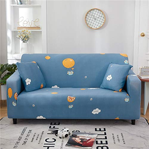 WXQY Funda de sofá Floral de poliéster, Funda de sofá retráctil para Sala de Estar, Funda de sofá elástica para Silla, Funda de sofá, Toalla, Funda de sofá A26, 3 plazas