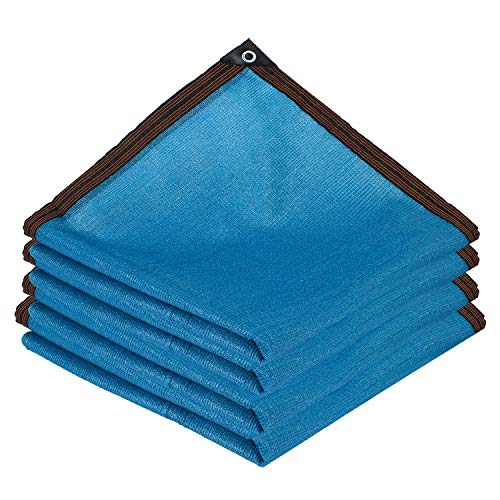 AWSAD Tela Sombra, Azul Malla Sombreo, Adecuado para El Patio De La Piscina Al Aire Libre, 22 Tamaños, Personalizable (Color : Blue, Size : 2x6m)