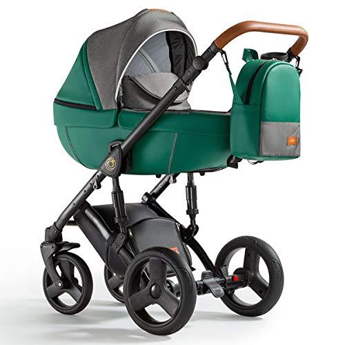 Krausman Kinderwagen 3 in 1 Nexxo Green Kombikinderwagen Babyschale Babywanne Sportwagen Design Made In Germany