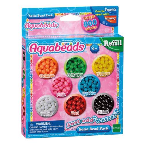 Unbekannt Aquabeads Nachfüllpackung bunt, 800 Perlen - Bastelperlen Nachfüllung
