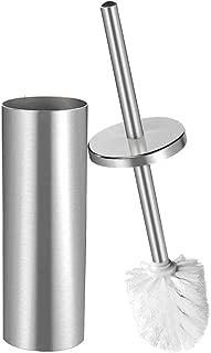 DOWRY Round Toilet Brush Holder,Stainless Steel Hideway Stand 15 Inch High,3.5 Diameter,Brushed Nickel SS202-3