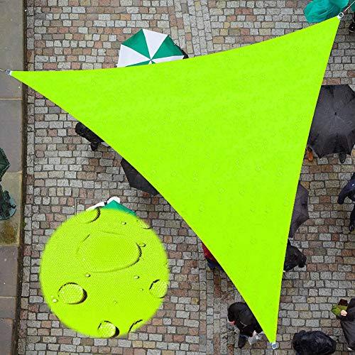 ZJHTK Toldo Vela Sombra Triangular Viento Protección UV Transpirable Toldo Apto para Terraza Jardín Terraza de Camping,Verde