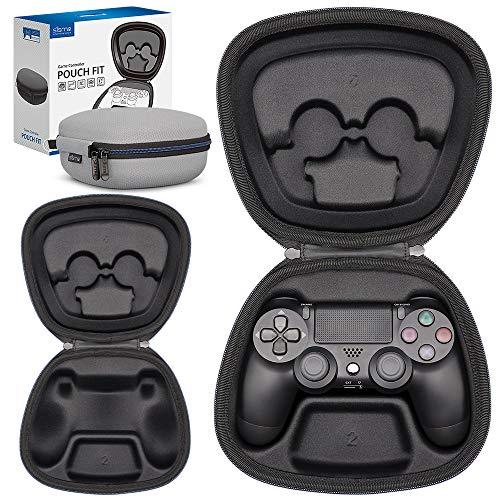Sisma Funda rigida para Mando original PS4 - Estuche de transporte para guardar y proteger Gamepad wireless Dualshock 4 de PlayStation, color gris