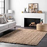 nuLOOM Natura Collection Chunky Loop Jute Rug, 5' x 8', Natural