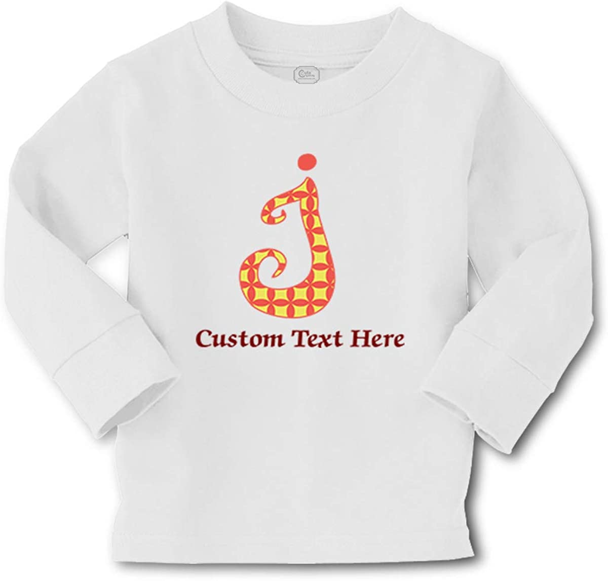 Kids Long Sleeve T Shirt Letter J Cotton Boy & Girl Clothes Funny Graphic Tee