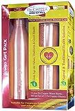 Paquete de Regalo Dr. Copper Jumbo Esposa, Esposo, cumpleaños, Aniversario de Bodas | REGALA la Salud | Botella de Agua de Cobre de 1 litro con Tapa a Prueba 2 Vasos 300 ml
