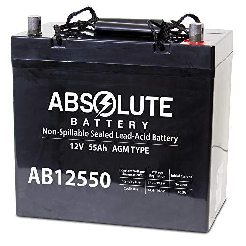 12V 55AH Power Boat Pontoon Electric Trolling Motor Deep Cycle Battery