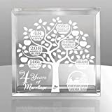 4 Years Wedding Anniversary, 4 Years of Marriage, 4 Years Together, Traditional Fruit Gift for 4th Anniversary, Husband & Wife, 4 Years Down Forever to Go Keepsake and Paperweight