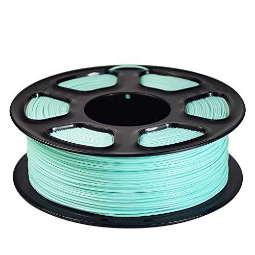 WSHZ Filament pour imprimante 3D PLA, Filament Multicolore Acc Précision dimensionnelle +/- 0,02 mm, 1 Bobine, 1 kg, 1 Jeu de bobines, pour Impression 3D Green Vert Menthe,5volumes