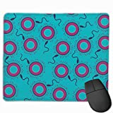 Sperm Egg Condom Rectangle Mouse Mat Customized Non-Slip Square Mouse Pad Rubber Base with Stitched Edge for Gaming Office Laptop
