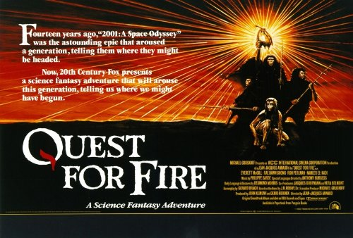 Quest for Fire Poster B 27x40 Everett McGill Ron Perlman Nameer El-Kadi