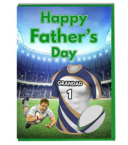 Vatertag-Karte–Die Rugby, mit brumbies. Grandad