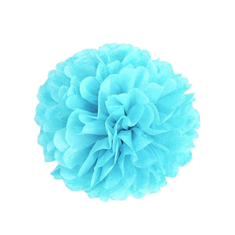 Dailygo Party Decor 10pcs 8 inch Pom poms Paper Pom Poms DIY Art Craft Tissue Paper Paper Flower for Home Wedding Baby Shower Birthday (Tiffany Blau, 8
