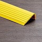 Mamperlán - Anti antideslizante escalera Edge Nosing Recorte autoadhesivo escalera ribete huella de peldaño Nosing PVC ribete de cinta impermeable y antideslizante para escaleras (1m)