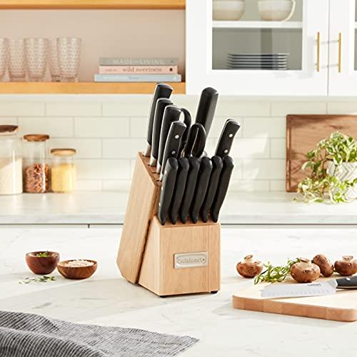 Cuisinart C77TR-15P Triple Rivet Collection 15-Piece Knife Block Set - Black
