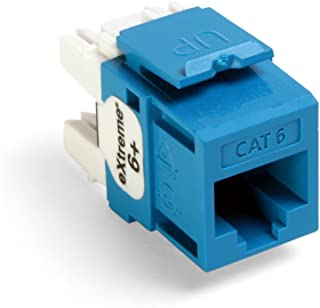 Leviton 61110-BL6 Extreme 6+ QuickPort Connector, CAT 6, Blue, 25-Pack