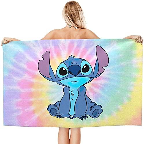 Amacigana® - Toalla de playa personalizada para niño y niña, diseño de Stitch